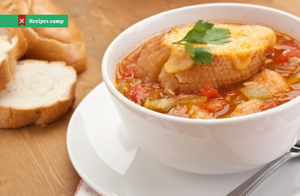 Recipe  Autumn vegetable soup with cheesy toasts