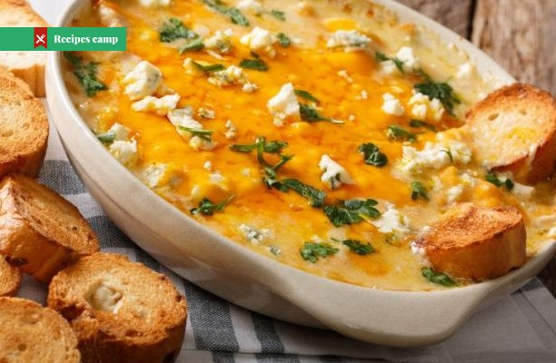 Recipe  Baked White Cheddar and Leek Dip