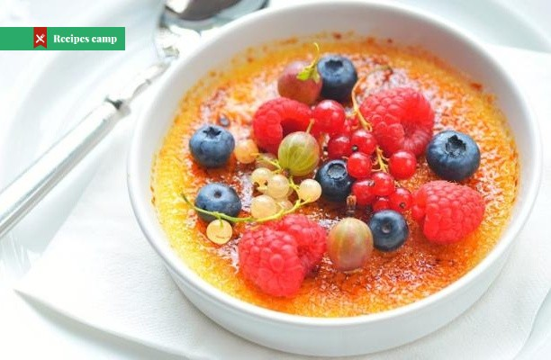 Recipe  Creme Brulee with Marinated Fruits