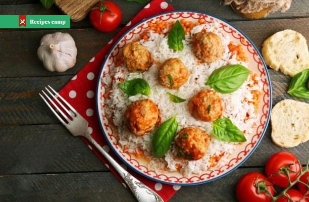 Recipe  Greek Meatballs with Cucumber-Yogurt Sauce and Rice