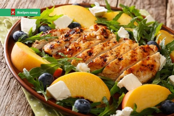 Recipe  Grilled Chicken, Peach, and Arugula Salad