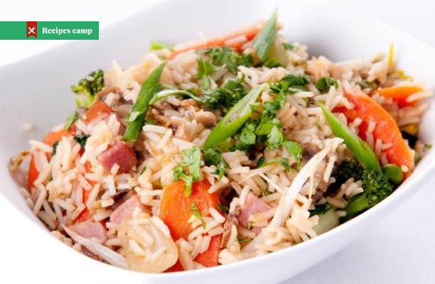 Recipe  Ham and Lima Bean Fried Rice