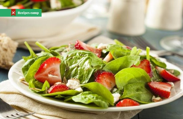 Recipe  Kiwi-Strawberry Spinach Salad