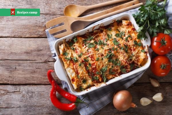 Recipe  Layered Chicken and Black Bean Enchilada Casserole