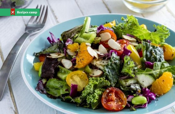Recipe  Marinated Kale Salad with Apple and Oranges