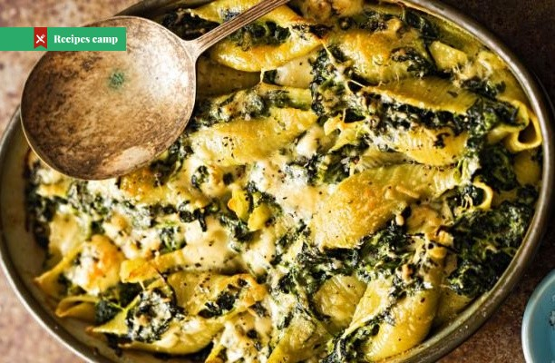 Recipe  Pasta Bake with Spinach and Parmesan