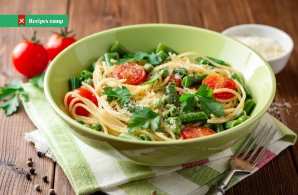 Recipe  Pasta Salad with Fresh Peas, Tomato and Pecorino