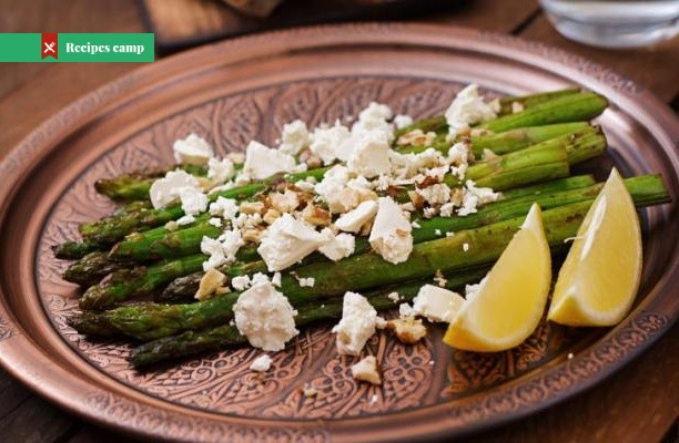 Recipe  Roasted Asparagus With Lemon, Feta, and Pistachios
