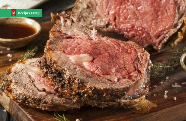 Recipe  Roasted Dry-Aged Rib of Beef with Creamed Greens