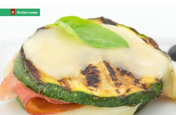 Recipe  Roasted zucchini with ham