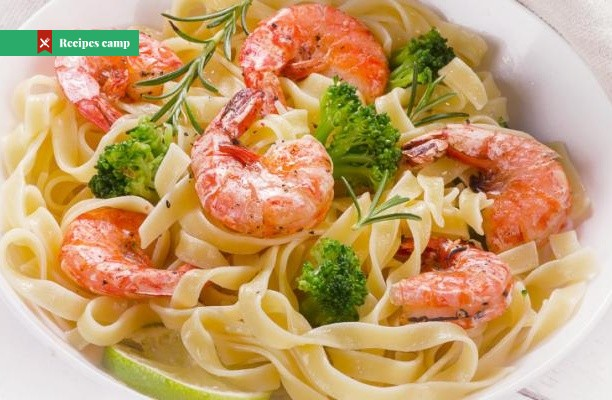 Recipe  Shrimp and Broccoli Fettuccine