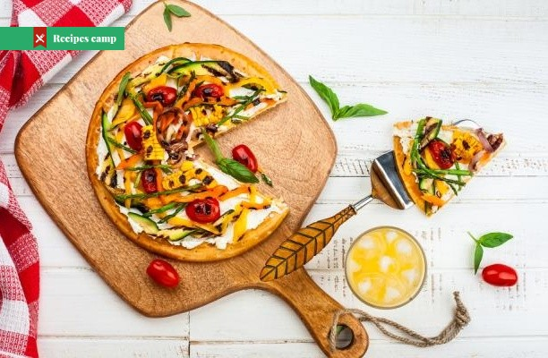 Recipe  Socca pizza with feta cheese