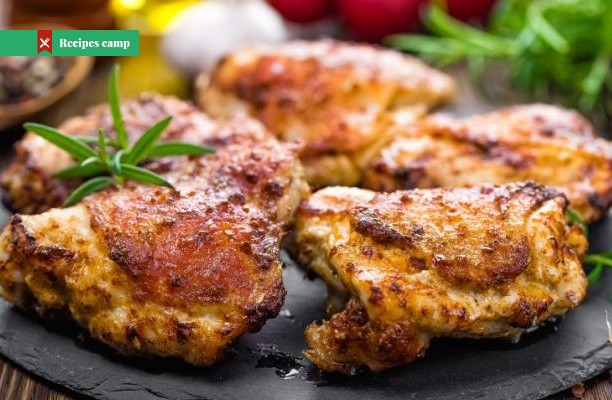 Recipe  Spiced Chicken Thighs with Garlicky Rice