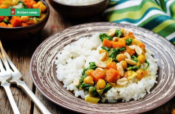 Recipe  Spinach, Aubergine and Chickpea Curry