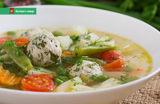 Recipe  Spring Minestrone with Chicken Meatballs