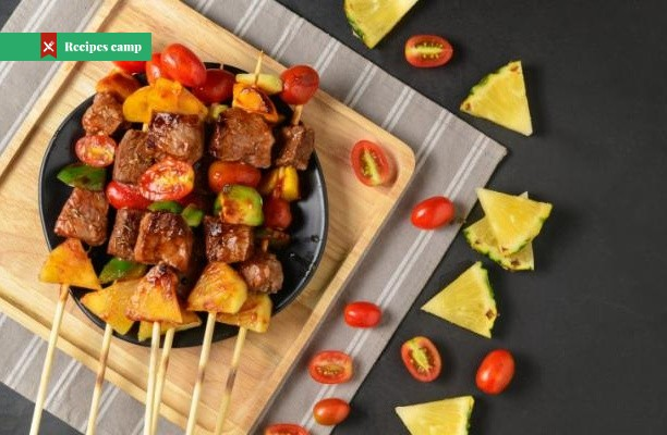 Recipe  Sweet-and-Sour Pork Skewers with Pineapple