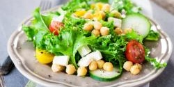 Chopped Chickpeas Greek Salad