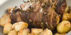 Greek roast lamb