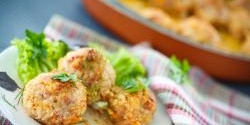 Pork Meatballs Loaded with Apple and Cheddar
