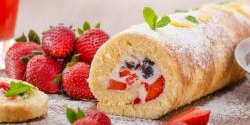 Strawberry Cheesecake French Toast Roll