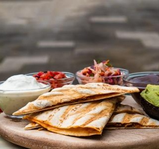 Beef Quesadilla with Cheese and Guacamole