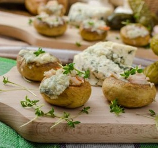 Cheesy autumn mushrooms