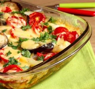 Cheesy Zucchini-Eggplant Bake