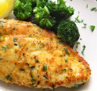 Chicken Scaloppine over Broccoli Rabe