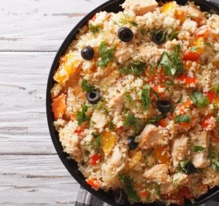 Couscous Salad with Chicken and Vegetables