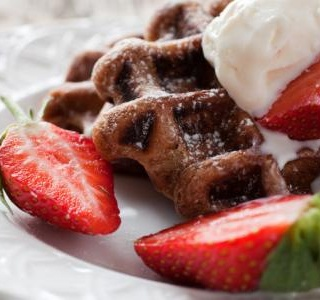Double Chocolate Brownie Waffles