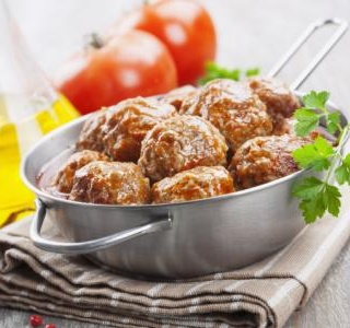 Duck Meatballs with Cherry Sauce
