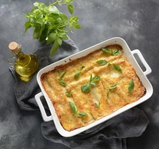 Eggplant cannelloni with mushrooms