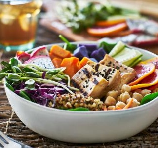 Fresh and healtly Buddha bowl