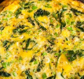 Frittata with Mascarpone, Spinach & Parmesan