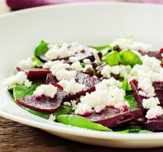 Goat cheese and beet salad