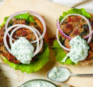 Greek Lamb Burgers with Tzatziki Sauce
