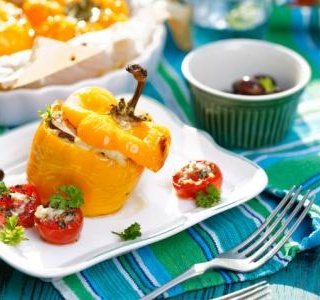 Greek Stuffed Pepper