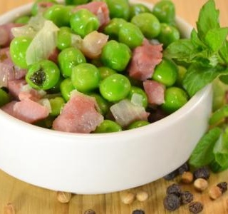 Ham and Peas with Mint and Tarragon