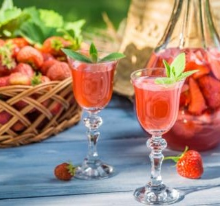Homemade strawberry-infused Vodka