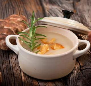 Jerusalem Artichoke cream soup