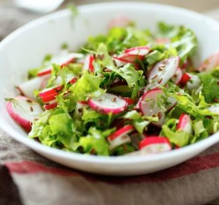 Lemony Fennel, Radish, and Kale Salad