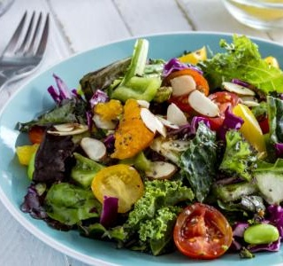 Marinated Kale Salad with Apple and Oranges