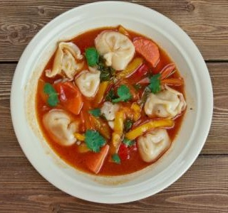 Minestrone with Tortellini and Parsley