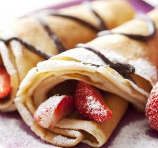 Nutella Crepes with Strawberries