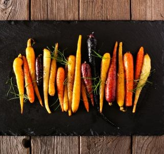 Pan-roasted parsnips and carrots