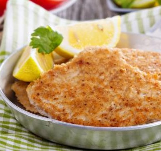 Parmesan Crusted Chicken Schnitzels