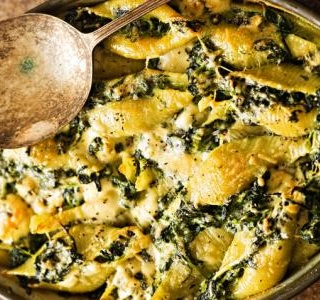 Pasta Bake with Spinach and Parmesan