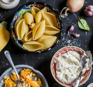 Pasta with Summer Squash, Ricotta and Basil