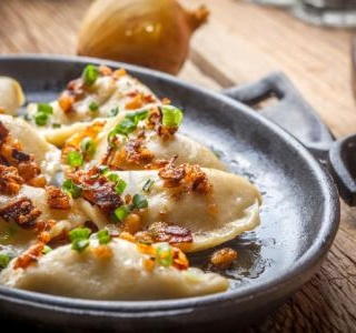 Pierogies with Fixins