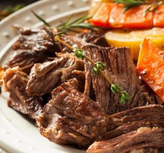 Pot Roast with Carrots, Shallots, Mint and Lemon